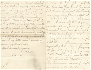 WILLIAM HIRAM RADCLIFFE - AUTOGRAPH LETTER FRAGMENT SIGNED