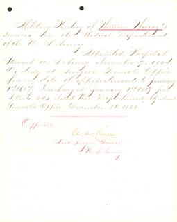Autographs: BRIGADIER GENERAL CHARLES H. CRANE - MANUSCRIPT DOCUMENT SIGNED 12/28/1866