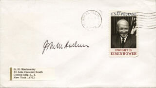 ASSOCIATE JUSTICE JOHN M. HARLAN JR. - ENVELOPE SIGNED
