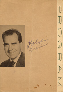 Autographs: PRESIDENT RICHARD M. NIXON - PROGRAM SIGNED 2/15 CO-SIGNED BY: FIRST LADY PATRICIA R. NIXON
