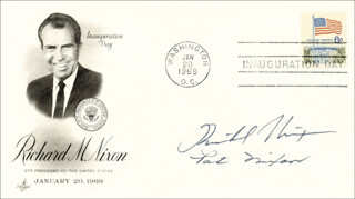 PRESIDENT RICHARD M. NIXON - INAUGURATION DAY COVER SIGNED CO-SIGNED BY: FIRST LADY PATRICIA R. NIXON