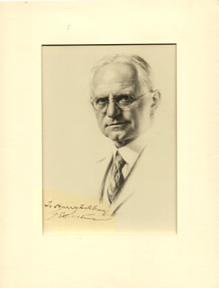 Autographs: GEORGE EASTMAN - INSCRIBED ORIGINAL ART SIGNED