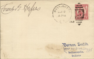 CHIEF JUSTICE CHARLES E HUGHES - ENVELOPE SIGNED CIRCA 1931