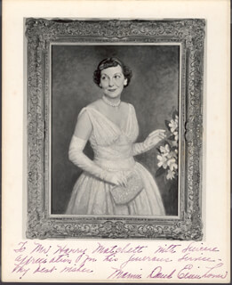 FIRST LADY MAMIE DOUD EISENHOWER - AUTOGRAPHED INSCRIBED PHOTOGRAPH