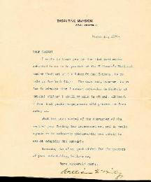 PRESIDENT WILLIAM McKINLEY - TYPED LETTER SIGNED 03/14/1900