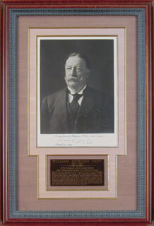 PRESIDENT WILLIAM H. TAFT - AUTOGRAPHED INSCRIBED PHOTOGRAPH 03/20/1909