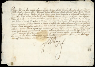 KING PHILIP IV (SPAIN) - DOCUMENT SIGNED 01/28/1640