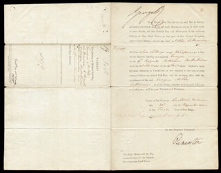 Autographs: KING GEORGE IV (GREAT BRITAIN) - DOCUMENT SIGNED 12/24/1820 CO-SIGNED BY: PRIME MINISTER HENRY JOHN (VISCOUNT PALMERSTON III) TEMPLE (GREAT BRITAIN)