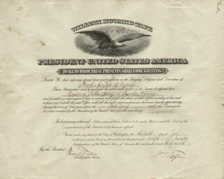 Autographs: PRESIDENT WILLIAM H. TAFT - CIVIL APPOINTMENT SIGNED 07/13/1912 CO-SIGNED BY: WALTER L. FISHER