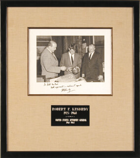 Autographs: ROBERT F. KENNEDY - INSCRIBED PHOTOGRAPH SIGNED
