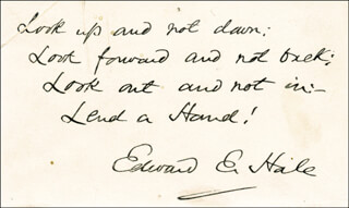 EDWARD EVERETT HALE - AUTOGRAPH QUOTATION SIGNED