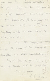 EDWARD EVERETT HALE - AUTOGRAPH LETTER DOUBLE SIGNED 08/06/1885