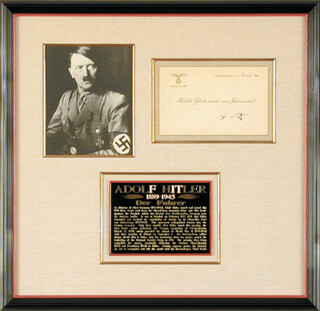 Autographs: ADOLF DER FUHRER HITLER - NEW YEAR'S CARD SIGNED 01/01/1939