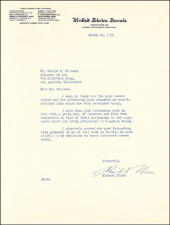 PRESIDENT RICHARD M. NIXON - TYPED LETTER SIGNED 03/26/1951