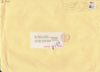 SCOTT BAIO - ENVELOPE SIGNED CIRCA 1984