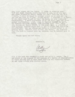 WALLY K. BERNS - TYPED LETTER SIGNED 06/23/1984