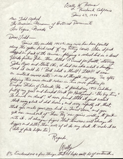 WALLY K. BERNS - AUTOGRAPH LETTER SIGNED 06/23/1984