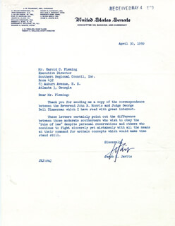 JACOB K. JAVITS - TYPED LETTER SIGNED 04/30/1959