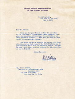 HENRY CABOT LODGE JR. - TYPED LETTER SIGNED 02/02/1958