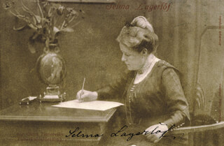 Autographs: SELMA LAGERLOF - PICTURE POST CARD SIGNED