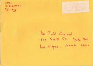 LOUIS EDMONDS - AUTOGRAPH ENVELOPE UNSIGNED 07/03/1984