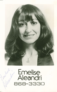 Autographs: EMELISE ALEANDRI - PHOTOGRAPH SIGNED