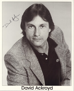 DAVID ACKROYD - AUTOGRAPHED SIGNED PHOTOGRAPH