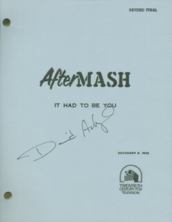 Autographs: DAVID ACKROYD - SCRIPT SIGNED