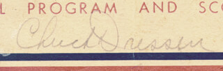 CHUCK DRESSEN - PROGRAM SIGNED CIRCA 1944 CO-SIGNED BY: LLOYD LITTLE POISON WANER