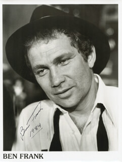 BEN FRANK - AUTOGRAPHED SIGNED PHOTOGRAPH 1984