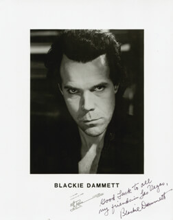BLACKIE DAMMETT - AUTOGRAPHED SIGNED PHOTOGRAPH