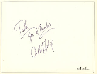 OTTO FELIX - INSCRIBED PAMPHLET SIGNED