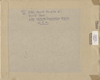 PAT COOMBS - AUTOGRAPH ENVELOPE UNSIGNED 07/10/1984