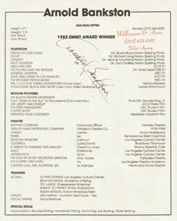 ARNOLD BANKSTON - TYPED RESUME SIGNED