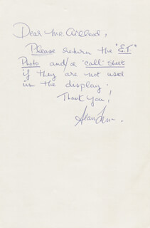 SEAN ANTHONY FRYE - AUTOGRAPH LETTER SIGNED