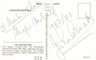Autographs: JOHN ARNATT - POST CARD SIGNED