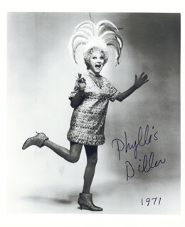 PHYLLIS DILLER - AUTOGRAPHED SIGNED PHOTOGRAPH 1971