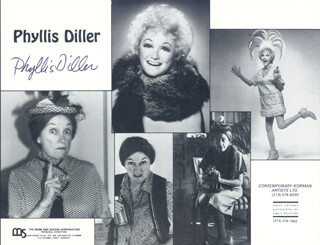 PHYLLIS DILLER - MAGAZINE PHOTOGRAPH SIGNED