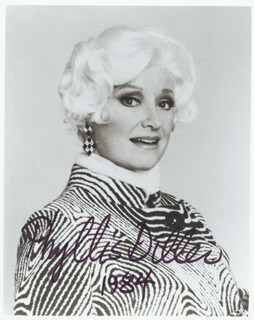 PHYLLIS DILLER - AUTOGRAPHED SIGNED PHOTOGRAPH 1984
