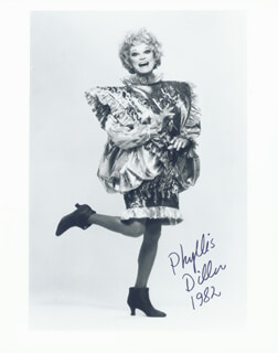 PHYLLIS DILLER - AUTOGRAPHED SIGNED PHOTOGRAPH 1982