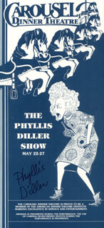 PHYLLIS DILLER - PROGRAM SIGNED