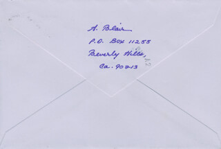 ALPHA BLAIR - AUTOGRAPH ENVELOPE SIGNED 07/17/1984