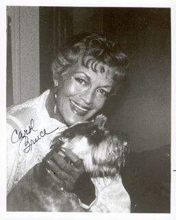 CAROL BRUCE - AUTOGRAPHED SIGNED PHOTOGRAPH
