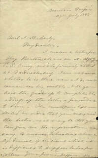 Autographs: PRESIDENT JEFFERSON DAVIS (CONFEDERATE STATES OF AMERICA) - AUTOGRAPH LETTER SIGNED 07/29/1885