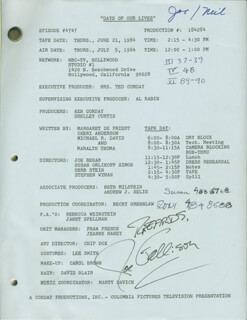 JOE GALLISON - SCRIPT SIGNED