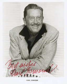 CARL ESMOND - AUTOGRAPHED SIGNED PHOTOGRAPH