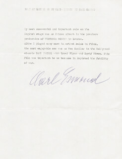 CARL ESMOND - TYPED MANUSCRIPT SIGNED