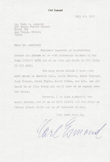 CARL ESMOND - TYPED LETTER SIGNED 07/26/1984