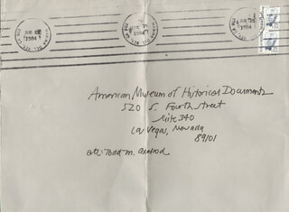 HENRY KAISER - AUTOGRAPH ENVELOPE UNSIGNED CIRCA 1984