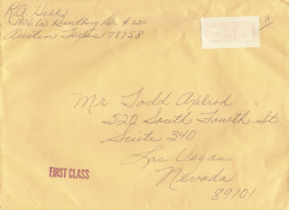 BOB HILL - AUTOGRAPH ENVELOPE SIGNED 07/30/1984